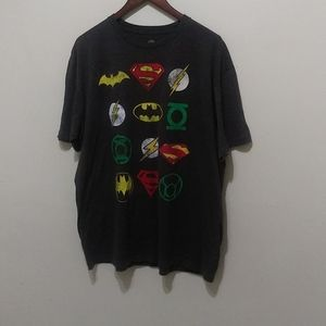 DC Comics Originals Super Hero Logos Men T shirt
